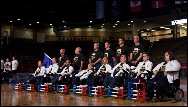 photo 01 L'équipe de France de Foot Fauteuil